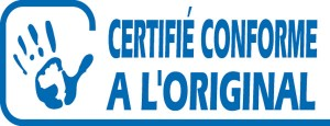 Document certifié conforme