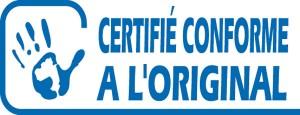 Document certifié conforme