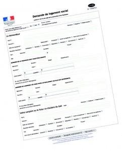 Formulaire de demande de logement social
