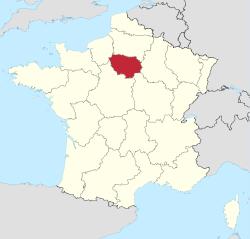 Carte de l'Île-de-France